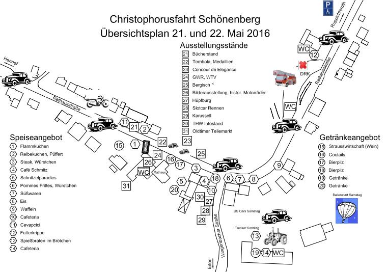 Ortsübersicht Schönenberg